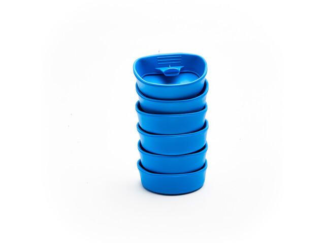 Wildo Fold-A-Cup Set d'autocollants Unicolore 6x, light blue